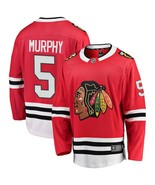Men's Connor Murphy #5 Player Jersey Sewn on Chicago Blackhawks 2018 Red... - $75.19