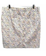 J. Jill Live-In Chino Cream Floral Pencil Skirt Plus Size 16 SOFT Brushed Cotton - $4.99