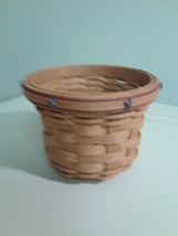 Longaberger 2007 X Small Crock Basket  with Red Star Lid & Plastic Prote... - $39.55