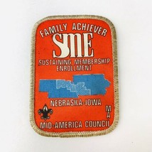 Vintage BSA Boy Scouts of America Patch Mid America Council Family Achiever SME  - $19.00