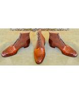 Men's Handmade Leather Boots, Formal Crocodile Texture, Leather Men's Ta... - $179.97+