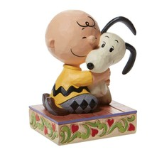 """Beagle Hug"" a Charlie Brown and Snoopy Figurine - Jim Shore Peanuts Collection image 2"