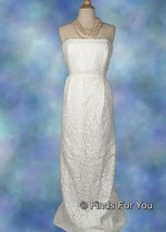 J Crew Women's Eyelash Lace Gown Wedding Bridal Formal Ivory Sz 16 09703 - $183.99