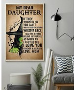 To My Daughter Withstand The Storm Witch Mom, Art Prints Poster Home Dec... - $25.59+