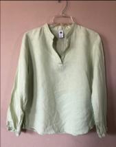 Womens Gap Light Green Linen Tunic Top Blouse Size Small - $14.85