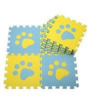 Interlocking Foam Mats EVA Foam Floor Mats (10 Tiles) Yellow Footprints image 2