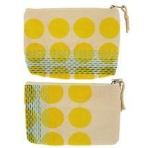Global Girlfriend Linen Bright Spot Pouch Handmade Fair Trade - $11.63