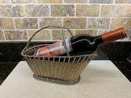 Vintage Barware Silver Plated Braid Weave Wine Basket - £27.90 GBP