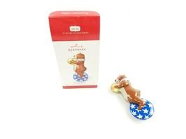 2014 Hallmark Keepsake Tin Toy Ornament Big-Top Bear 1st in Series New i... - $8.50