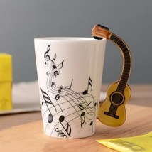 3D Handle Guitar Acoustic Music Mugs Coffee Milk Tea Cup Drinkware Uniqu... - $23.95