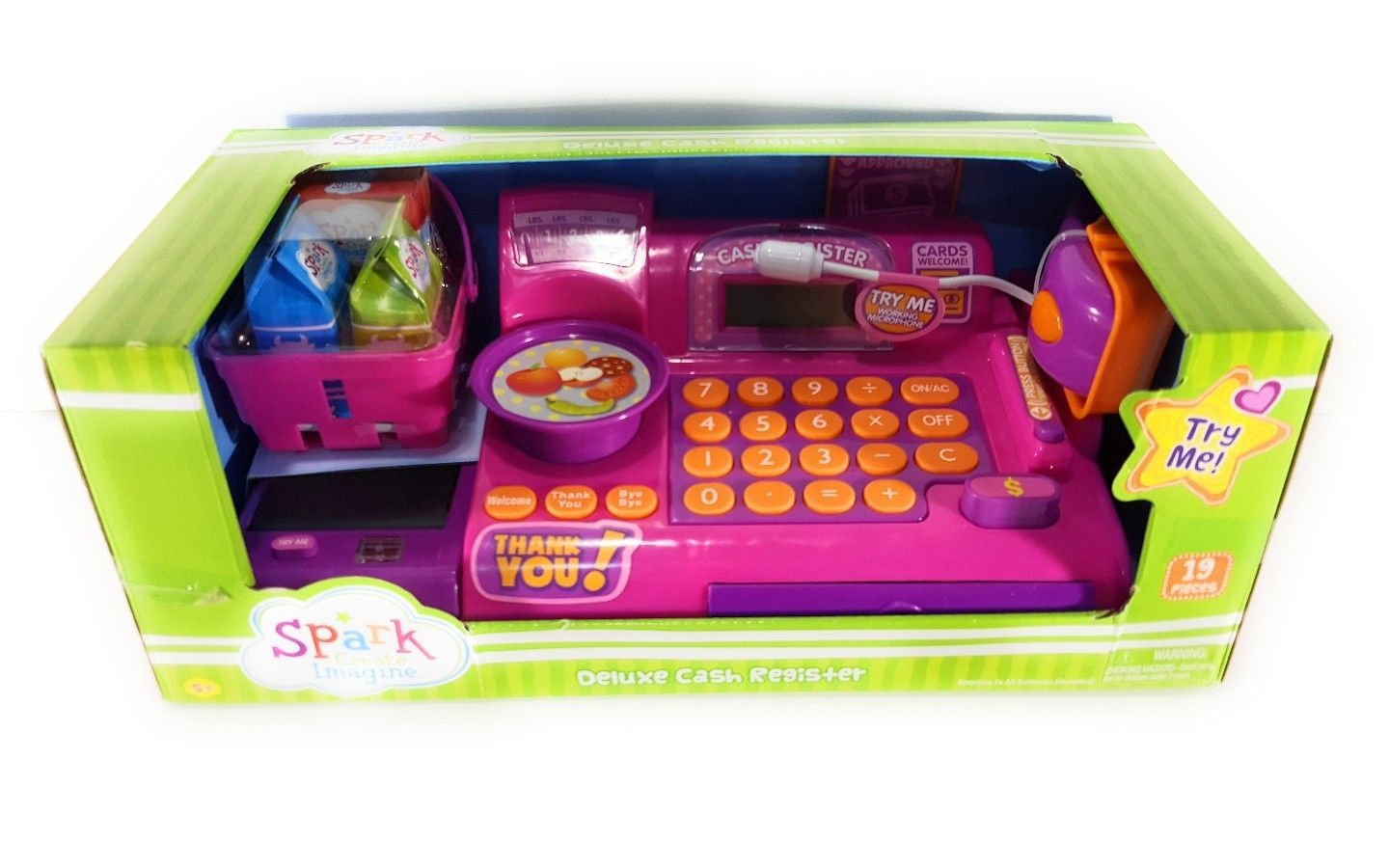 Toy Cash Register by SPARK CREATE IMAGINE Sound Mic and Belt Educational Kids for sale  USA