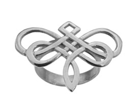 Dragonfly Ring Goddess Celtic Infinity knot work Sterling silver 925 Jew... - $74.29