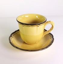 Vintage La Mancha Gold Poppytrail Metlox Cup & Saucer Set Retro - $13.81