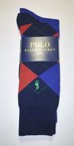 Polo Ralph Lauren Men's Dress Socks 2 Pairs Red Blue Argyle  NWT - $17.81
