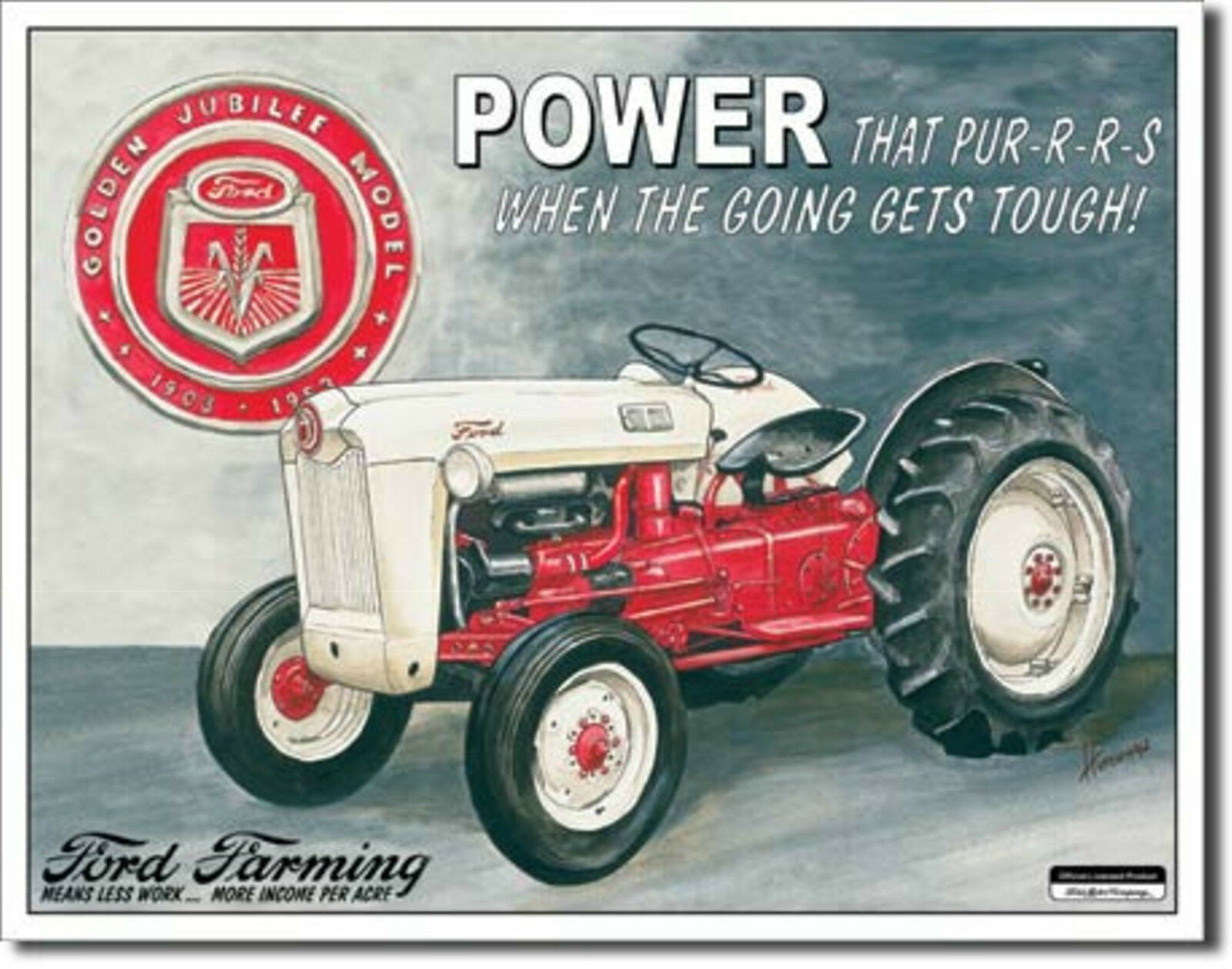 Ford Tractors Farming Golden Jubilee Model Metal Sign Tin New Vintage Style #699