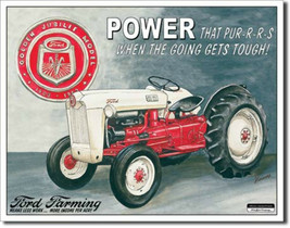 Ford Tractors Farming Golden Jubilee Model Metal Sign Tin New Vintage St... - $12.86