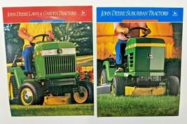 John Deere Vintage Color Brochure Lot of 2 Lawn Tractors 200 Series STX3... - $33.87