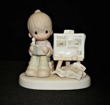 Precious Moments 1980 Peace Amid Storm Figurine No. E-4723, Fish Trademark - $15.00