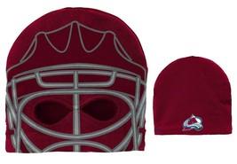 Colorado Avalanche Reebok Youth Boys Girls NHL Hockey Knit Ski Mask Cap ... - $14.84