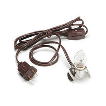 Darice Accessory Clip Light Christmas Village - 1ct Clear Bulb Brown Cor... - $8.95