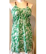 Notice Green Tropicla Halter Dress Beaded Ties Size XS - $9.99