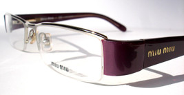 Miu Miu  Eyeglasses VMU 54F Silver Plum 7AI-1O1 Authentic 51mm New - $130.86