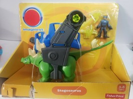 Imaginext Dinosaur new monster Huge Stegosaurus connect robot dinos armo... - $23.36