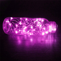(20 LED pink)10 LED Battery Operated Heart Shaped Christmas String Light F - $20.00