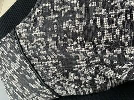 Banana Republic Womens XL Bomber  Jacket  Black White Cotton Blend Caree... - $44.50