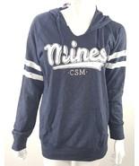 Colorado School Of Mines Womens Navy Blue White Long Sleeve Hoodie Pocke... - $22.99