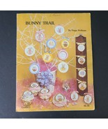 Bunny Trail Easter Cross Stitch Leaflet 1980 Peggy Wellman Designs - $9.79