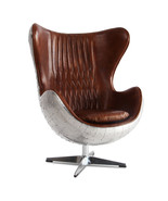 MarquessLife Handmade 100% Genuine Leather Industrial Style Egg Chair Wi... - $2,365.15