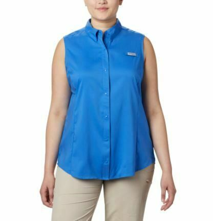 COLUMBIA Women's PFG Tamiami™ Sleeveless Shirt - Plus Size 2X STORE NEW--!!!!