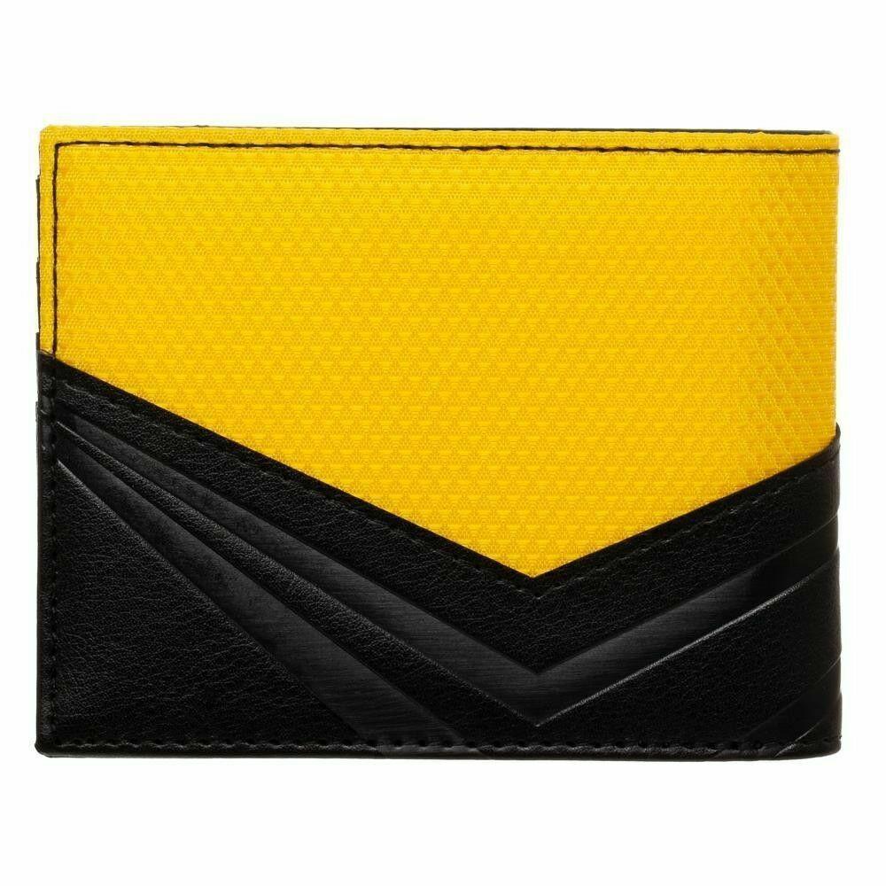 STAR TREK Metal Badge Bifold Wallet Yellow Black Captain Kirk Men's Faux Leather image 2