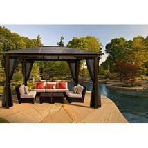 Luxury Outdoor Aluminium Gazebo Patio With Mosquito Netting Patio Grand ... - $2,159.98
