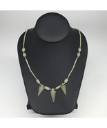 "13.1g,2mm-28mm, Small Green Nephrite Jade Arrowhead Beaded Necklace,20"",... - $4.75"
