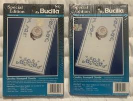 "2 Bucilla Morning Glory Dresser Scarf / Table Runner 63224 - 15"" x 39"" Each New - $29.68"