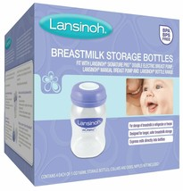 Lansinoh Breastmilk Storage Bottles, 4 Count (5 Ounce each), BPA and BPS... - $12.82