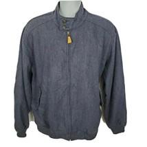 Orvis Wool Herringbone Mens Jacket Size L Navy Blue - $69.25