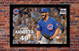 """MLB World Series   Jake Arrieta Poster   Chicago Cubs   19"""" wide x 13"""" tall - $14.95"""