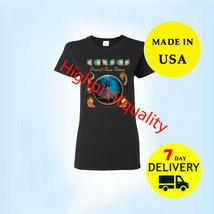 Kansas Rock Shirt Band Point Tour 2019 T-Shirt Black Women All Size Tee 1 Side - $20.99+