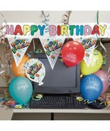 Birthday Decorating Kit Cubicle Office Decor Banner Balloons Party - $10.60 CAD