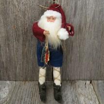 Fisherman Santa Claus Ornament Christmas TJ Santas Tina Mitchell Fish Fi... - $64.99