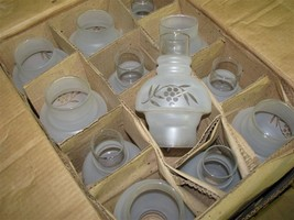 Vintage NOS Case of 24 Corning Glass Acid Etched Glass Chimney Shades - $99.00
