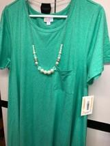 NWT LuLaRoe XL Heathered Green SOFT Brushed Polyester Blend Carly Swing Dress - $54.45
