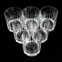 6 (Six) ROYAL CRYSTAL ROCK-RCR TIMELESS Cut Crystal Double Old Fashioned Glasses image 2