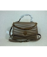 NWT Tory Burch Classic Taupe Kira Chevron Top-Handle Satchel $498 - $493.02