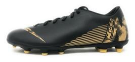 Nike Vapor 12 Club FG/MG Black/Metallic Vivid Gold Mens Soccer Cleats AH7378 077 - $49.99