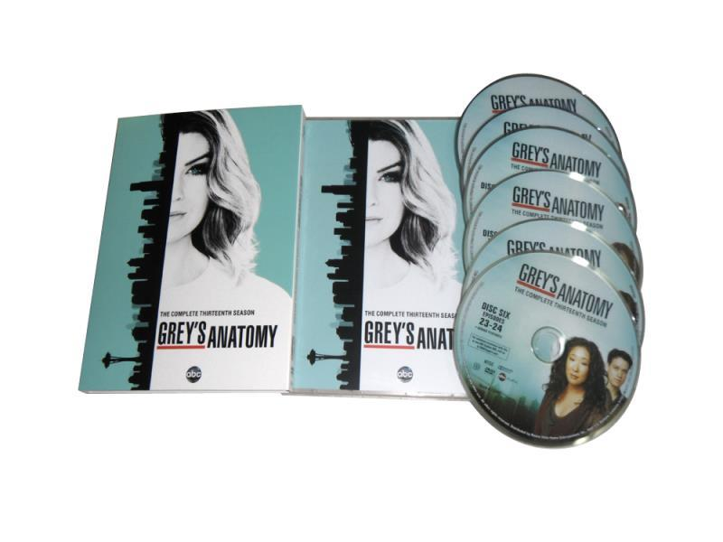 New Grey's Anatomy The Complete Season 13 DVD Box Set 5 Disc Free Shipping