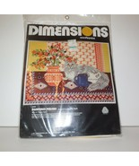 Dimensions Needlepoint new PAMPERED PERSIAN Cat #2056 NIP 1977 Maria Har... - $55.00